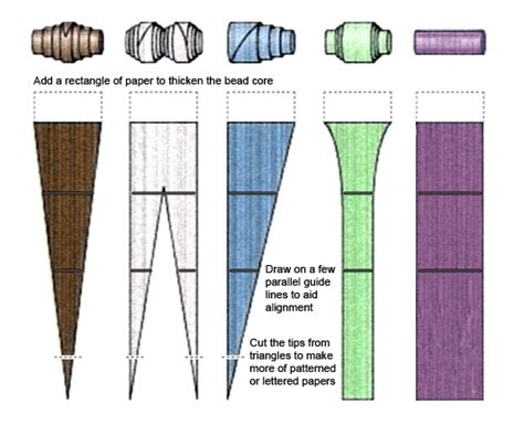 paper bead template big bead bead paper