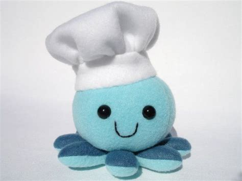 Chef Toys stuffed chef octopus plush chef hat toys chef hats
