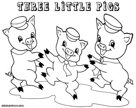 three little pigs coloring pages coloring pages to