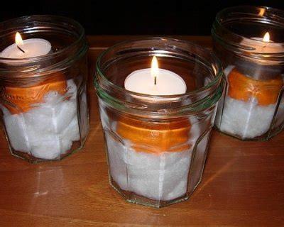 lavoretti di natale con candele candele di natale fai da te con agrumi