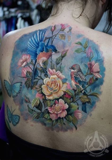 tattoo flower with birds 88 best flower tattoos on the internet amazingly beautiful