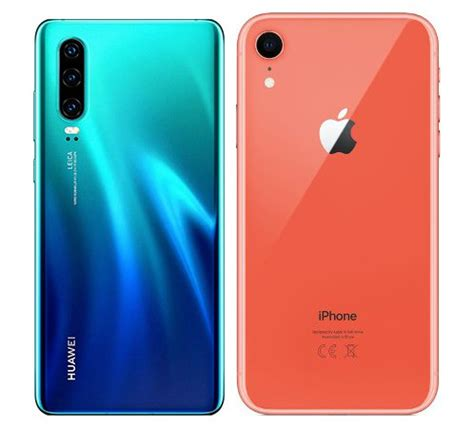compare smartphones huawei p  apple iphone xr