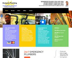 Economic Plumbing by Economy Plumbing By Hawkfeather Web Design Website Hosting