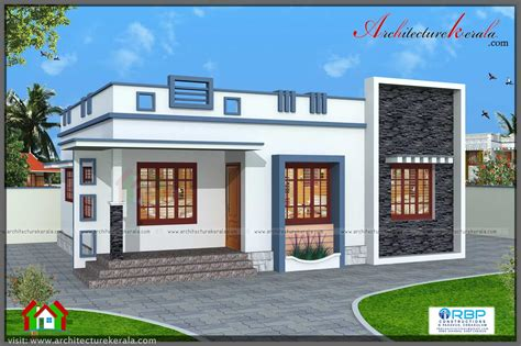 760 square 3 bedroom house plan architecture kerala