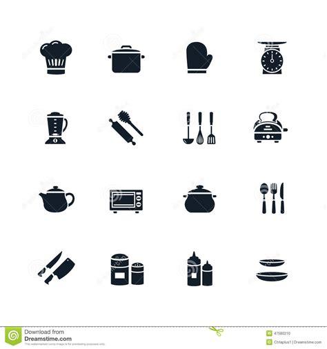picto cuisine ic 244 ne de vaisselle de cuisine illustration de vecteur