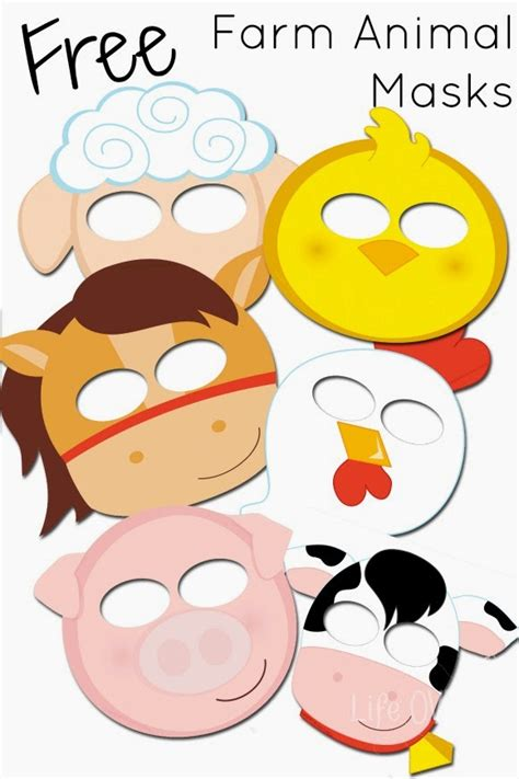 farm animal mask templates farm animal masks templates