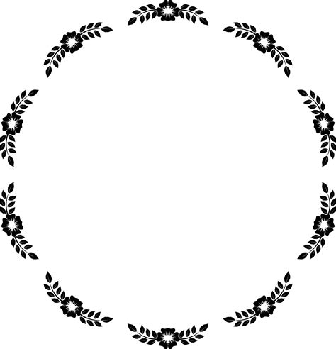 The Oval by Clipart Flower Frame Extrapolated 21
