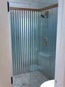 Steel Shower Baths Corrugated Metal Shower Home Design Ideas Pictures