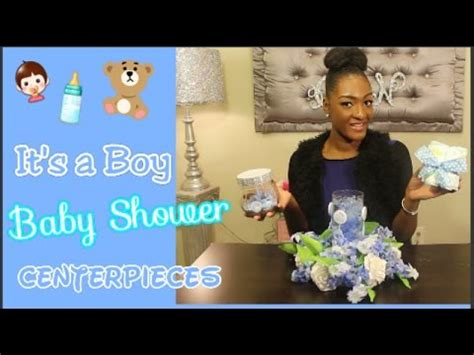 Do It Yourself Baby Shower Centerpieces by Diy Dollar Tree It S A Boy Baby Shower Centerpieces