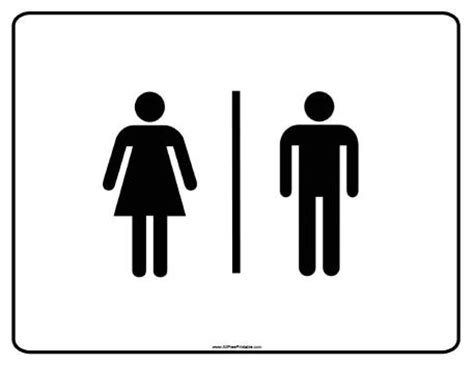 printable restroom signs clipart best