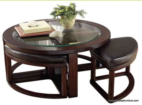 Glass Coffee Table With Stools Glass Coffee Table With 4 Stools Mysleep