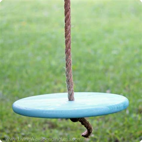 how to make a rope swing with seat diy tree swing living well spending less 174