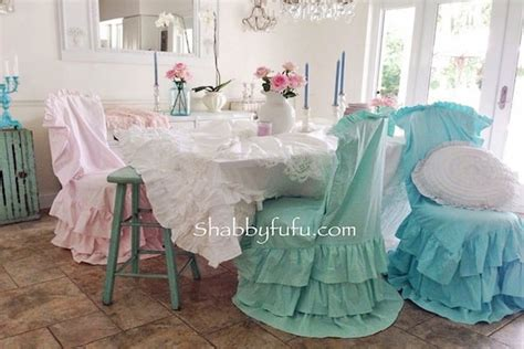shabbyfufu chair covers chair slipcovers to change the look of a dining room shabbyfufu