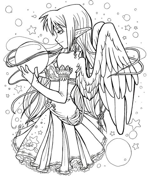 anime coloring page free gothic anime couples coloring pages