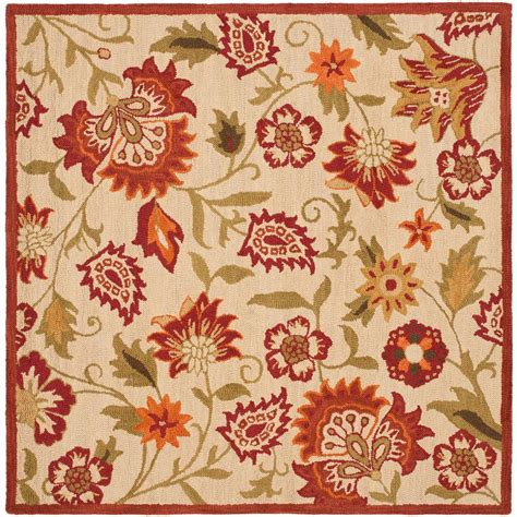 6 ft rugs blossom beige multi 6 ft x 6 ft square area rug 281