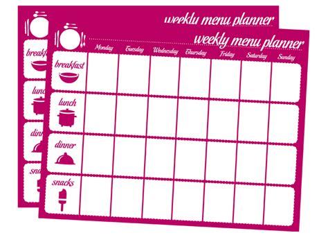 weekly menu planner template free printable weekly planner excel calendar template 2016