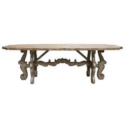 Rustic Farm Dining Table Country Rustic Scroll Farmhouse Dining Table Kathy Kuo Home