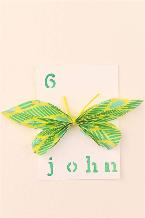 Butterfly Name Cards For Weddings