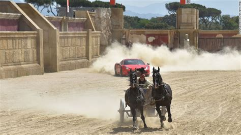 ferrari horse vs mustang horse ferrari races a horse drawn chariot on ben hur set cnn