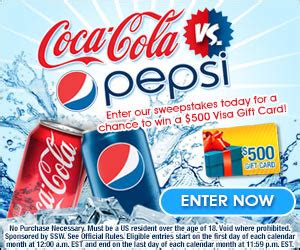 Pepsi Cola Sweepstakes - coca cola vs pepsi sweepstakes at totally free stufftotally free stuff