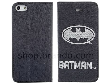 Batman W3736 Iphone 5 5s Se Casing Premium Hardcase iphone 5 5s dc comics heroes batman leather flip limited edition