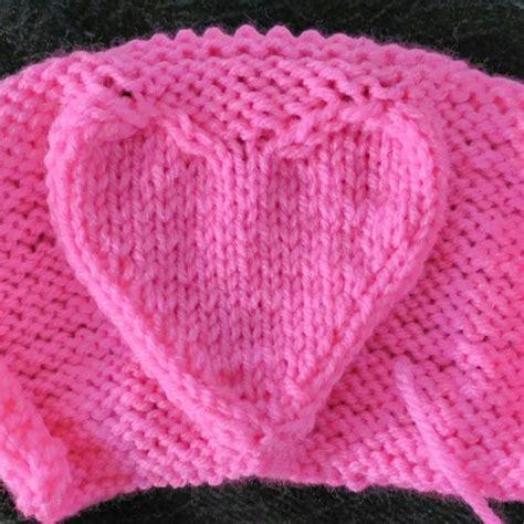knitting pattern heart motif heart knitting patterns in the loop knitting