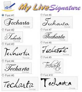 online personal signature maker mylivesignature free