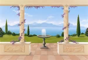 trompe l oeil wall murals trompe l oeil bella vista wall mural 108