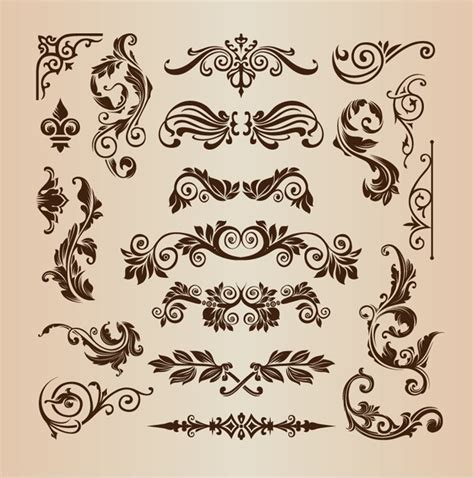Vintage Design Elements Vector Set 23 | k 252 cheninsel vintage design home design ideen