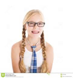 images teenage girl: teenage girl wearing a school uniform and glasses smiling face