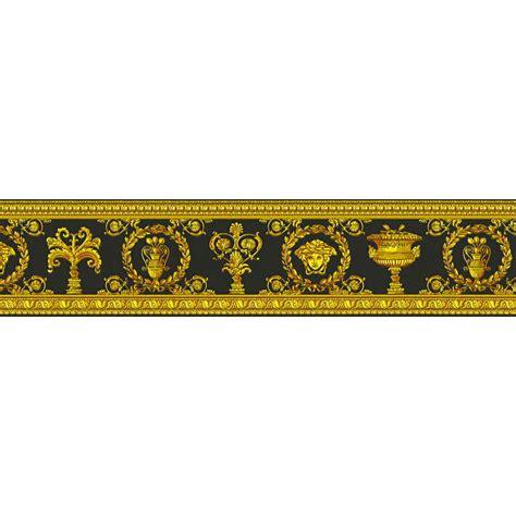 gold wallpaper border versace vanitas black gold wallpaper border 34305 1