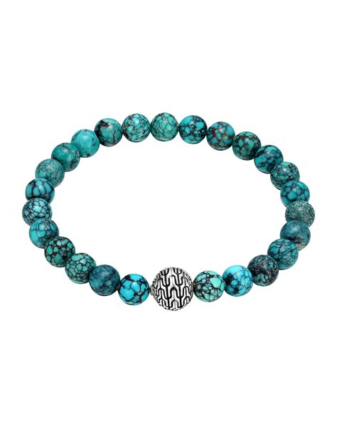 turquoise bead bracelet hardy large turquoise beaded bracelet with magnetic