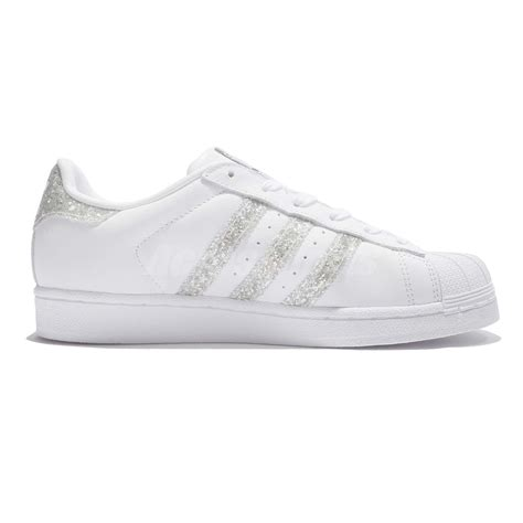 Adidas Superstar Putih Silver Import Asli adidas originals superstar w glitter silver white shoes sneakers s76923 ebay