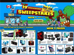 Ncix Sweepstakes - ncix win a tons of prizes valued over 10 000 by may 6 2015 w
