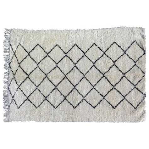 black and white moroccan rug beni ourain moroccan white and black rug for sale at 1stdibs