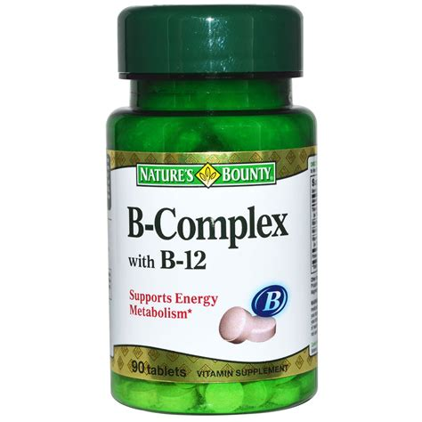 Vitamin B Complex Tablet nature s bounty b complex with b 12 90 tablets iherb