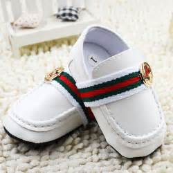 baby boy white gentleman faux leather crib shoes