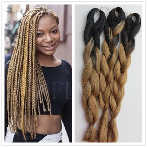 braids for ombre hair 3packs lot ombre kanekalon braiding hair synthetic hair