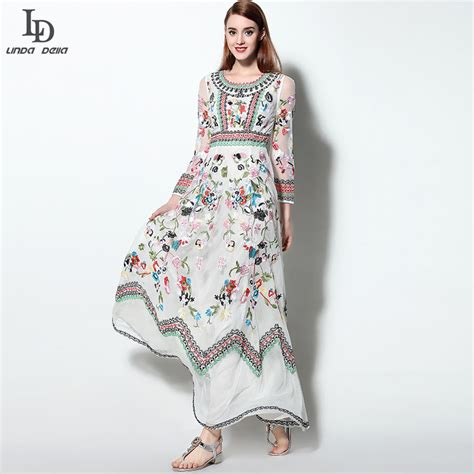 design dress with sleeves ld linda della classic autumn winter runway designer dress