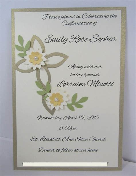 confirmation invitation cards crosses invitations and confirmation