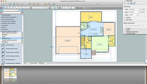 home remodelling software create floor plans easily with conceptdraw pro office