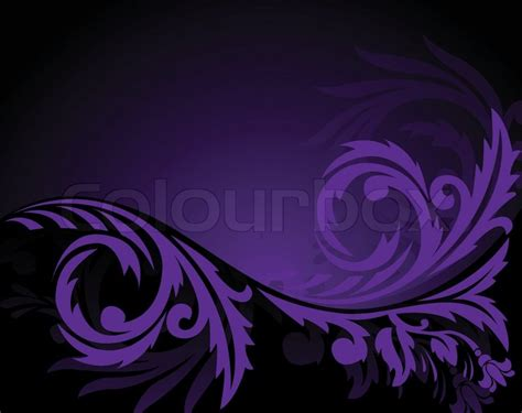 Beautiful Wallpaper Design For Home Decor Abstract Black Background With Horizontal Purple Ornament