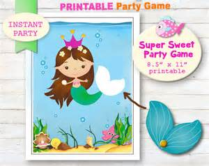 Pin The On The Mermaid Template by Pin The On The Mermaid Printable Mermaid