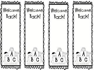 printable bookmarks for high school students classroom freebies too susan hardin s quot welcome back to