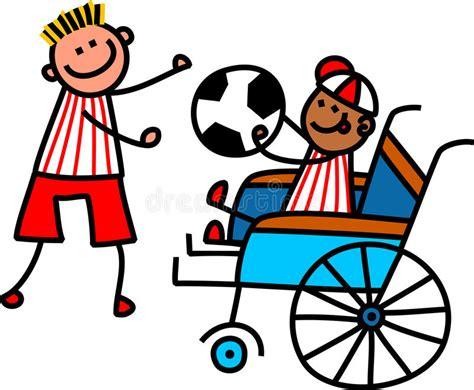 clipart calcio ragazzo disabile di calcio illustrazione di stock