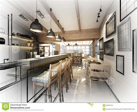 Drawing Of Coffee Shop