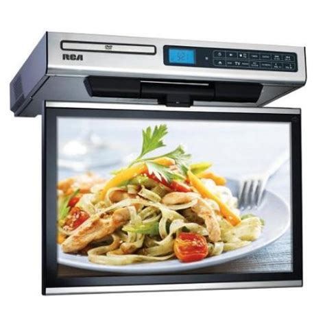 under the cabinet tv for the kitchen rca 15 4 034 lcd tv dvd radio combo kitchen under cabinet