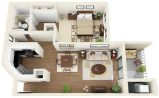 Floor Plans For One Bedroom Apartments by 50 One 1 Bedroom Apartment House Plans Architecture