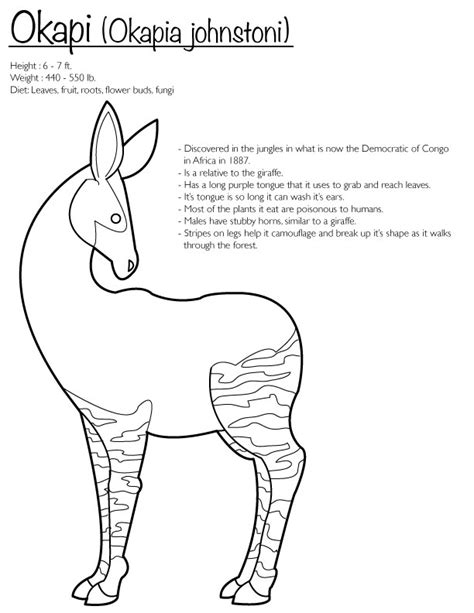 Okapi Coloring Page By Finwitch On Deviantart Okapi Coloring Pages