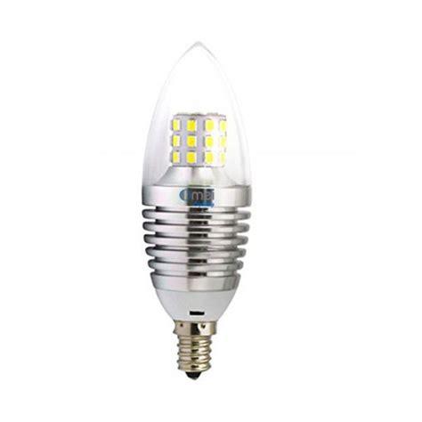 led candelabra bulb 6 pack 7w e12 warm white 2850k silver